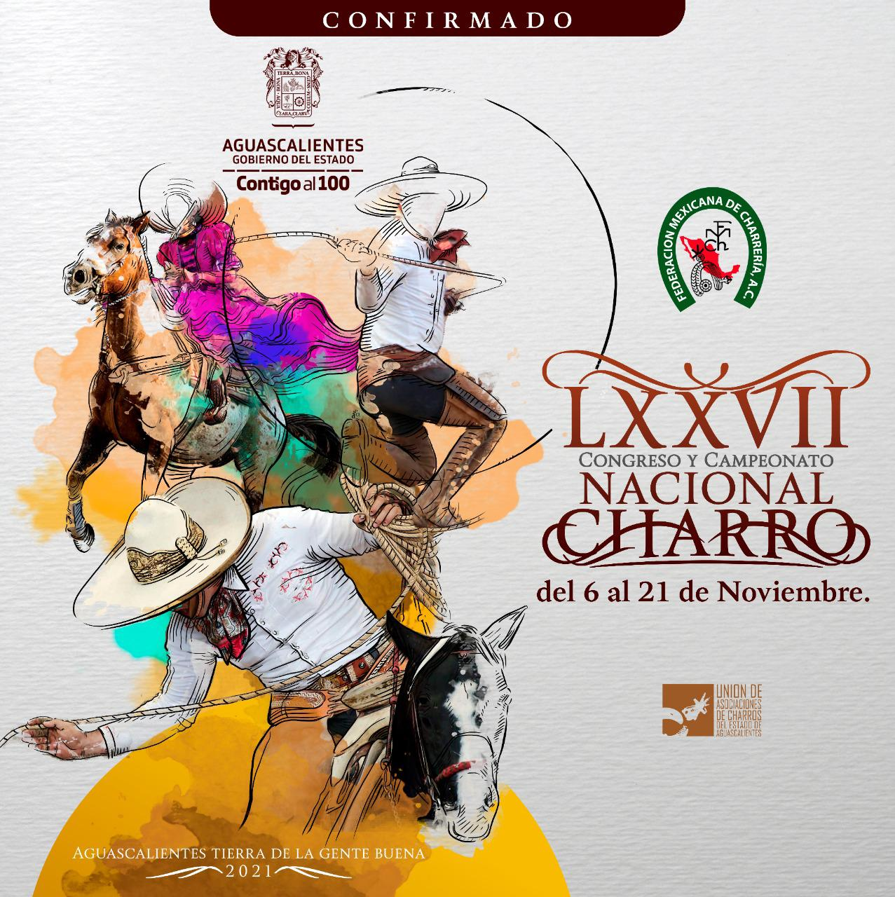 LXXVII Congreso y Campeonato Nacional Charro 2021 en Aguascalientes