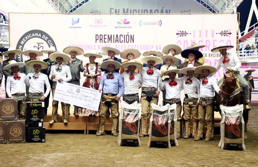 Premiación al tercer lugar, Rancho El Diamante de Jalisco