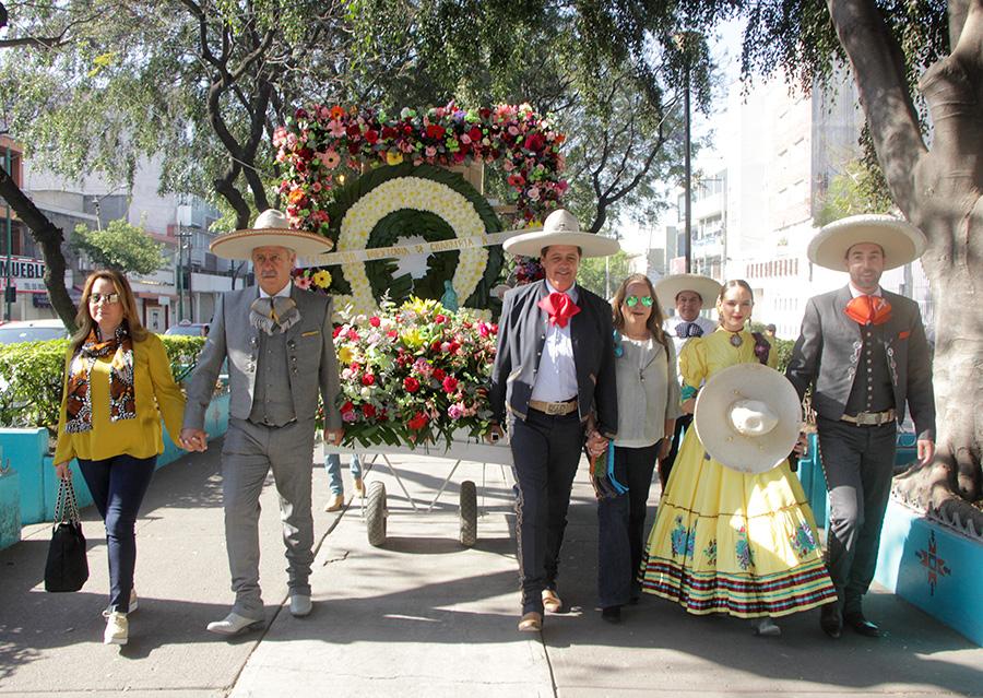Se realizó la tradicional peregrinación de la Federación Mexicana de Charrería hacia el Tepeyac