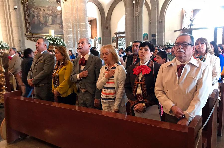 El sagrado oficio religioso se celebró en la Colegiata, la antigua Basílica de Guadalupe, hoy Templo Expiatorio a Cristo Rey