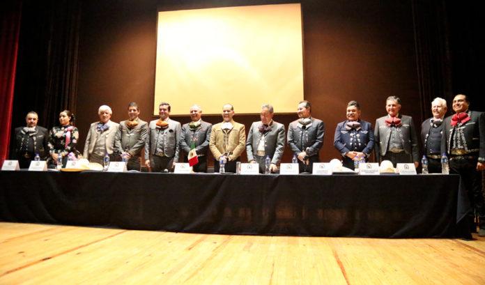 Las personalidades que encabezaron los trabajos de la Asamblea General en el Centro Cultural Universitario de Morelia