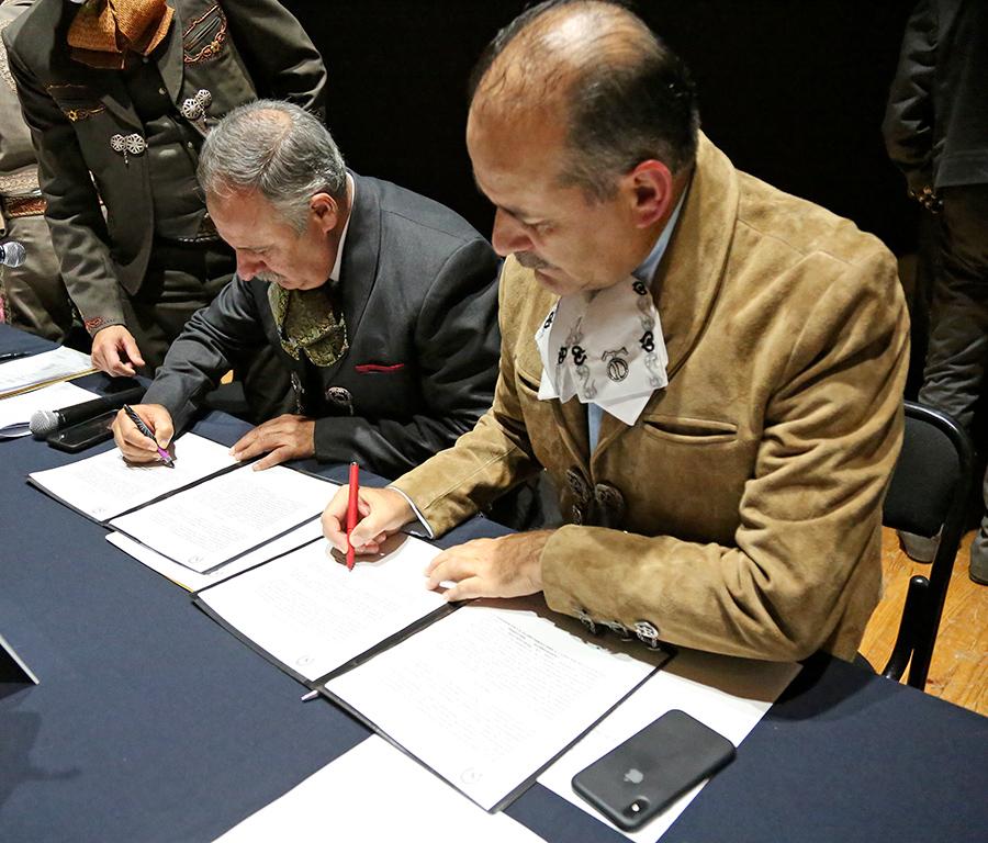 Firma del convenio de compromiso entre Federación y el Gobierno de Aguascalientes para el Campeonato Nacional de 2021