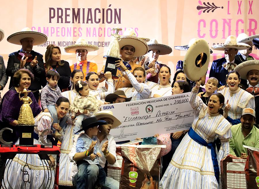 """Alteñitas de Guadalajara """"A"""", escaramuza subcampeona nacional"""