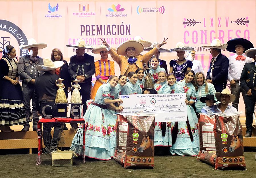Hacienda de Guadalupe, escaramuza tercer lugar nacional