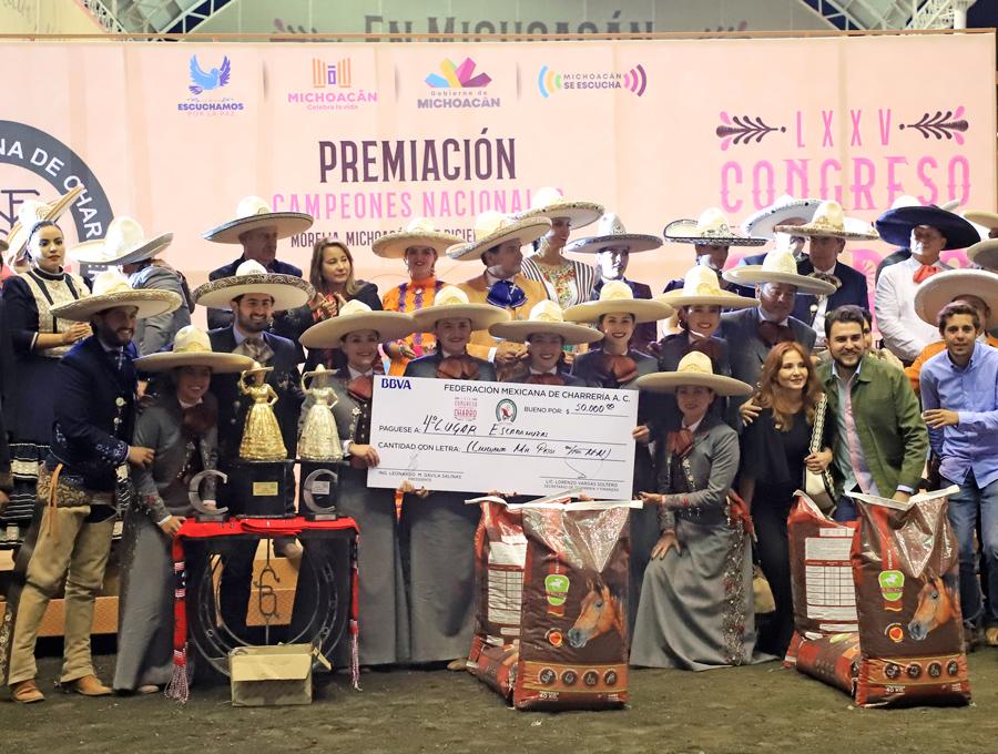 Charra del Pedregal, cuarto lugar nacional de la rama femenil