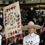 """La escaramuza Real de Toluca Infantil """"B"""" hizo su presentación en Rancho El Pitayo de Querétaro"""
