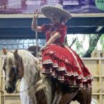 Blanca Paola Maldonado Cuevas, soberana de la Unión de Asociaciones de Charros del Estado de Querétaro, ha engalanado con su presencia las competencias de este certamen nacional