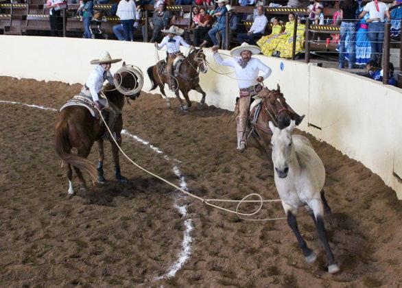 Y Julián Jacob Alamillo Contreras se cubrió de gloria al acertar sus tres manganas de a caballo