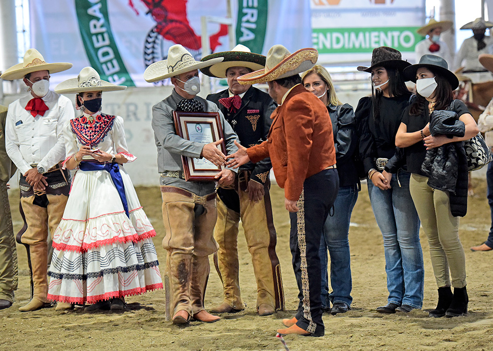A título póstumo se entregó la Herradura de Oro a la memoria de don Salvador López Pantoja