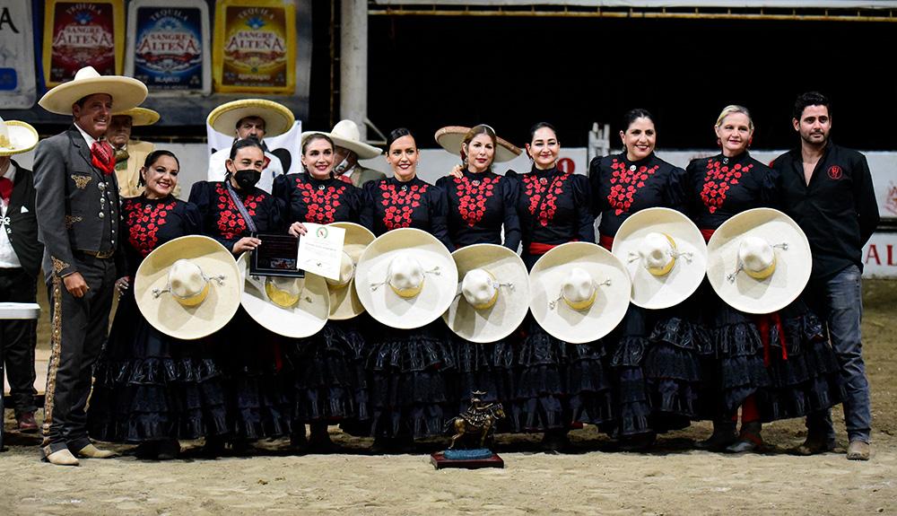 Selección Jalisco Charra Mayor obtuvo una corona más en la categoría Mayor del sector femenil