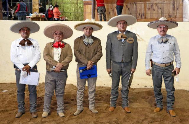 El cuerpo de locutores que animan las competencias de este Campeonato Nacional, encabezados por el coordinador del ramo, Juan Carlos Cuevas González