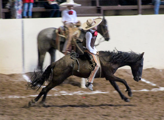 Julián Alexis Arredondo Vilchis jineteó la yegua para 15 unidades para Rancho El Picacho del Estado de México
