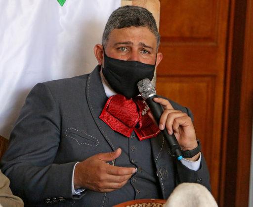 José Antonio Salcedo López, presidente de la Federación Mexicana de Charrería, encabezó la junta de trabajo celebrada en Rancho El Pitayo
