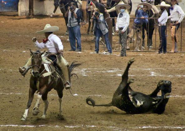 """Hacienda de Triana de Alvarado, Texas, Estados Unidos de América, ganó el mano a mano nocturno con Hacienda Los Portales """"Rojo"""""""