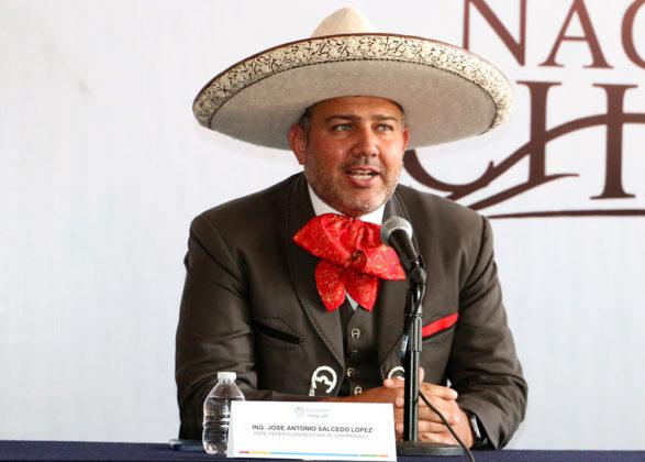 José Antonio Salcedo López, presidente de la Federación Mexicana de Charrería, destacó el entusiasmo de la familia charra respecto al Congreso y Campeonato Nacional Charro