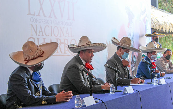 En rueda de prensa este domingo se presentaron los avances del Campeonato Nacional Charro Aguascalientes 2021