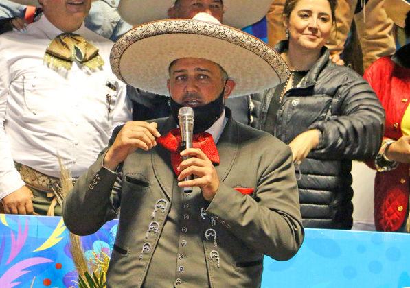 José Antonio Salcedo, presidente de la Federación, en la clausura del campeonato nacional