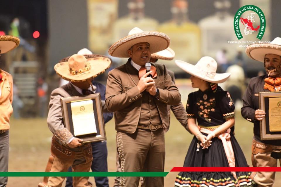 José Antonio Salcedo López, presidente de la Federación, encabezó la ceremonia de homenaje en Rancho Santa María