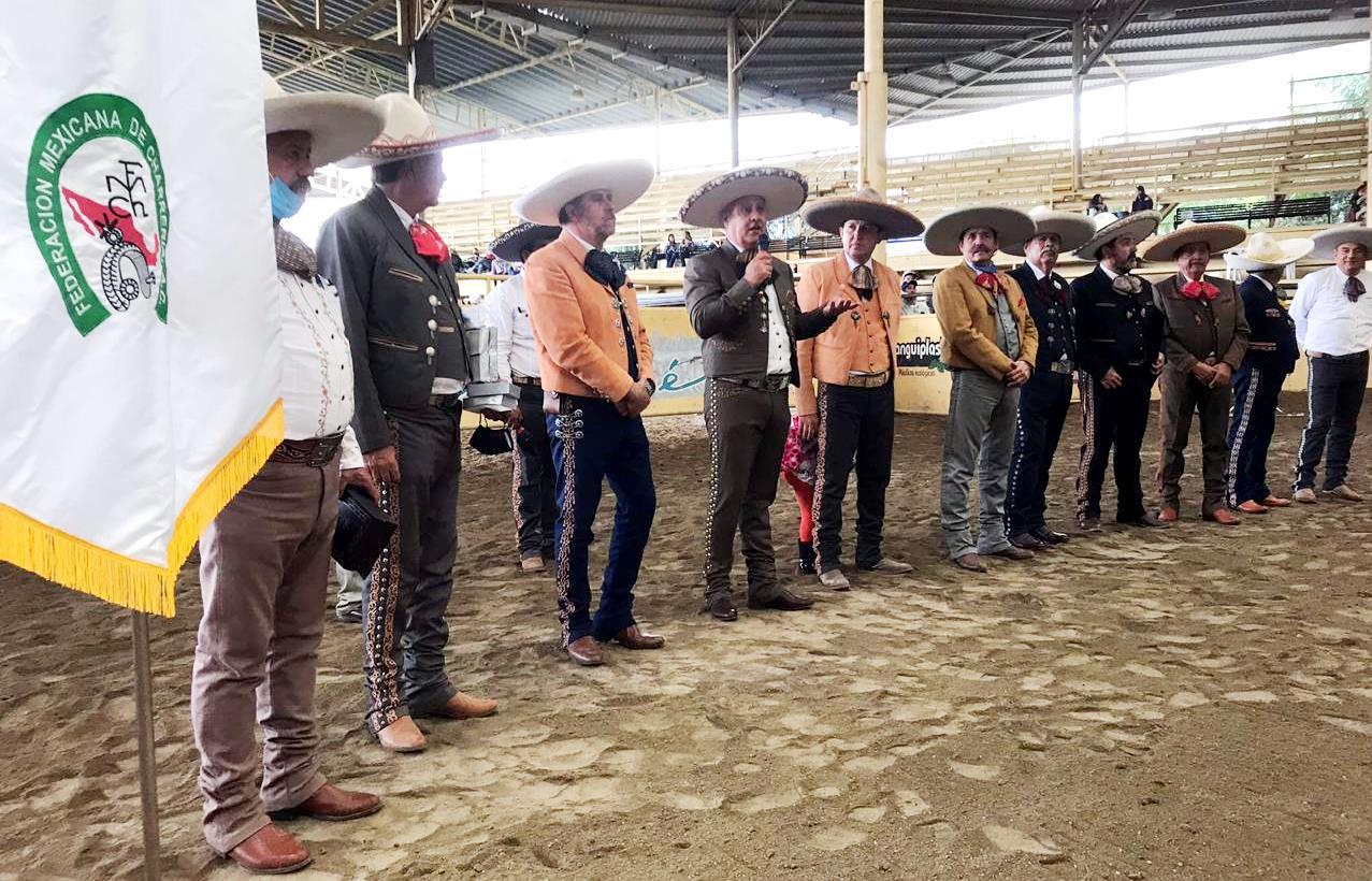 Ceremonia de premiación del Campeonato Estatal Charro de Jalisco, celebrado en Tlajomulco de Zúñiga