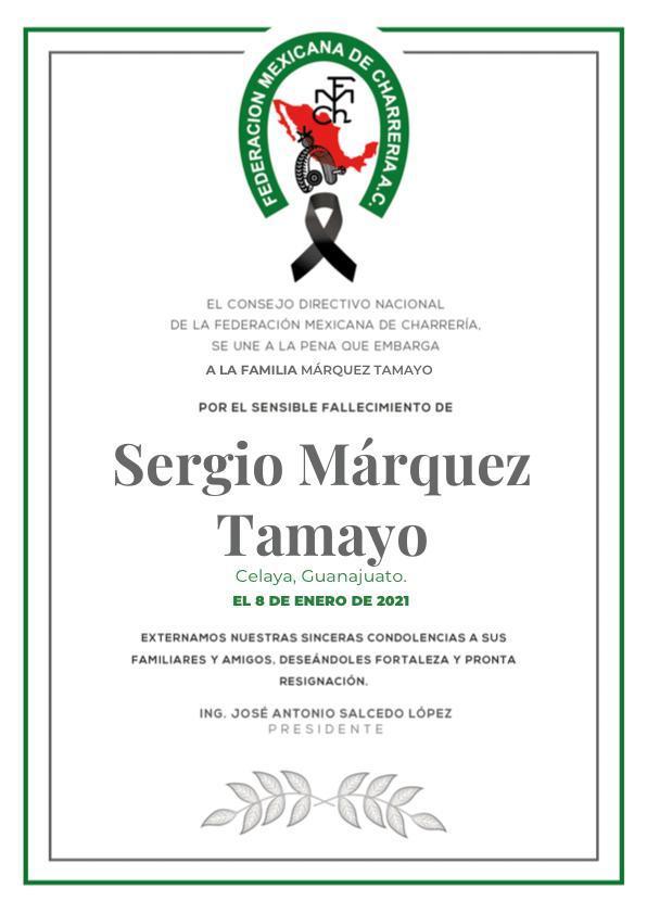 ✞ Sergio Marquez Tamayo
