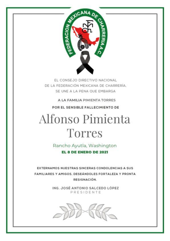 ✞ Alfonso Pimienta Torres