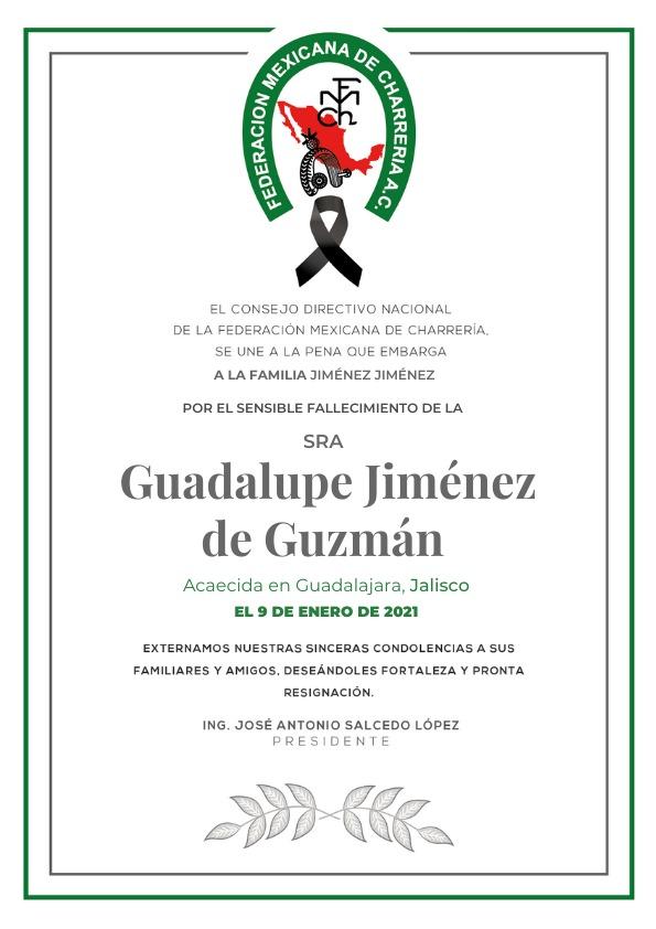 ✞ Guadalupe Jimenez Guzmán