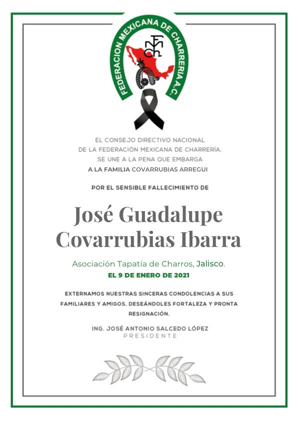 ✞ José Guadalupe Covarrubias Ibarra