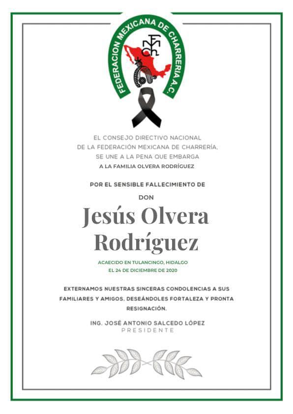 ✞ Jesús Olvera Rodríguez