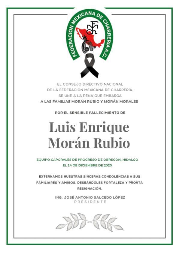 ✞ Luis Enrique Morán Rubio