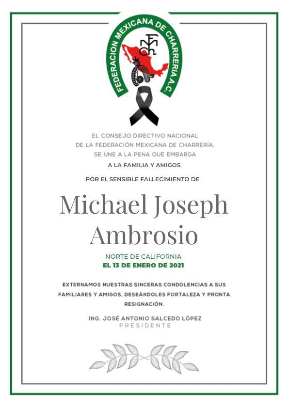 ✞ Michael Joseph Ambrosio