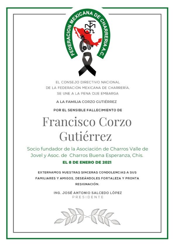 ✞ Francisco Corzo Gutierrez