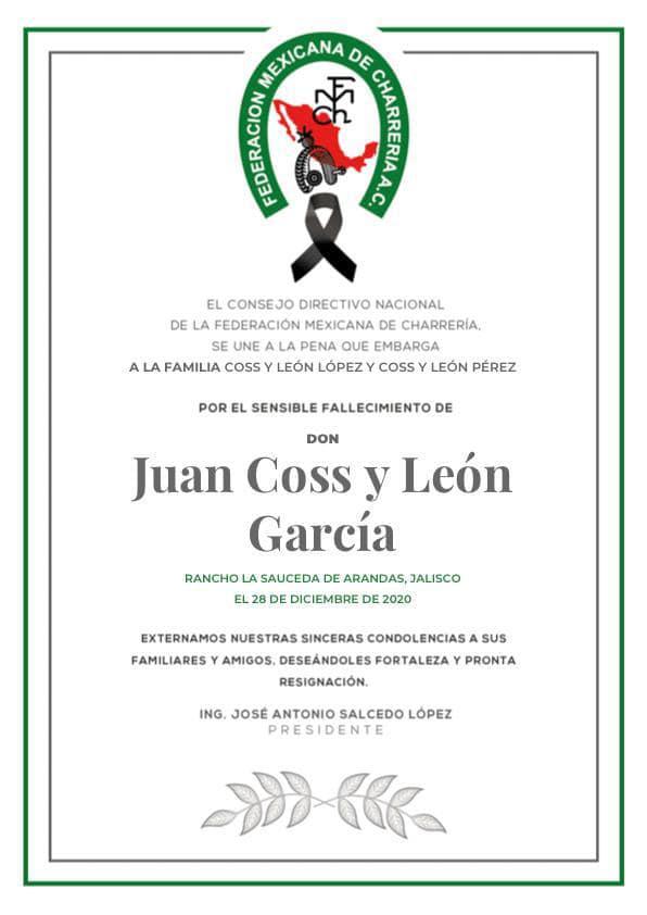 ✞ Juan Coss y Leon García