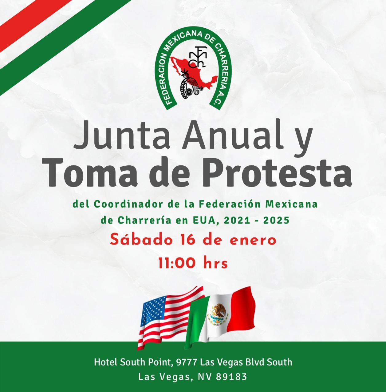 Toma de Protesta del Coordinador Federaion Mexicana de Charrería en USA
